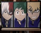 My Hero Academia Todoroki, Deku and Bakugou