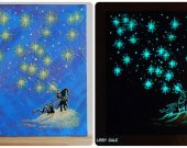 Star Elf, Glow in the dark, Original artwork, 100% Handmade Acrylic On Canvas