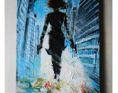 Black Widow, Avengers, Marvel, Comics, infinity war, Original painting, acrylic painting, movie painting, marvel art