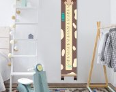 Growth chart cow, Cow decor child, Height chart canvas, Custom height meter, Nursery print