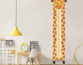Growth chart giraffe, giraffe decor child, Height chart canvas, Custom height meter, Nursery print