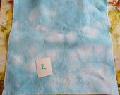 HAND DYED 14 count Aida Teal and White a fat quarter 50x50cm