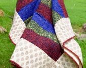 Maroon Quilt   Twin Quilt   Quilt   Cotton Quilt   Patchwork Quilt   Indian Quilt   Handmade Quilt   Quilt From India