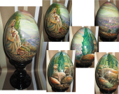 "Easter- Nativity - Painting on the egg (in a circle) / From Greg Olsen's favorite painting ""O Jerusalem!"""