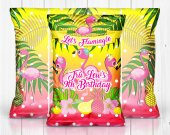 Flamingo, Lets Flamingle Birthday Party, Flamingo Favors, Flamingo Chip Bag, Flamingle Chip Bag, Flamingo Digital, Chip Bags