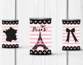 Paris Birthday Party, Paris Pringles Label, Paris Baby Shower, Paris Sweet 16, Paris Party Favors, Paris Party Decor, Digital Download Only