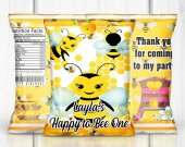 Bee Birthday Party, Bee Chip Bag, BumbleBee Chip Bag, Bumble Bee Treat Bag, Bee Party Favors, Bee Party Ideas, Digital, Chip Bag, Treat Bag