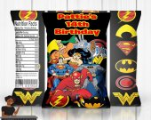 Justice League Chip Bag, Justice League Favor Bags, Justice League Bags, Justice League Party Decor, Justice League Custom Party Favor