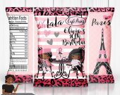 Paris Birthday Party, Paris Chip Bag, Paris Baby Shower, Paris Sweet 16, Paris Party Favors, Paris Party Decor, Digital