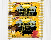 Bee Birthday Party, BumbleBee Treat, Bee Party Favors, Sourpatch Labels, Bee Favors, Bee Party Ideas, Candy Labels, Digital
