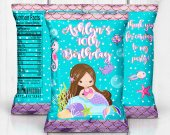 Mermaid Party, Mermaid Treat Bag, Mermaid Chip Bag, Mermaid Party Favors, Mermaid Juice Labels, Mermaid Decor, Mermaid Digital