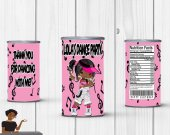 Dance Party Pringles Label, Music, Dance Party, Dancing Dolls, Digital or Printed
