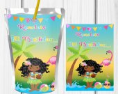 Hawaiian Luau, Capri Sun, Luau Party Decor, Luau Party Favor, Luau Birthday Party, Luau Party Ideas, Juice Labels, Digital, Printable