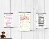 Unicorn Pringles Label,  Unicorn Birthday Party,  Unicorn Favors, Custom Label Digital or Printed and Shipped