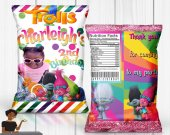 Trolls Chip Bag, Trolls Birthday Party, Trolls Birthday, Trolls Party Favors, Trolls Party Decor, Chip Bags, Digital or Printed and Shipped