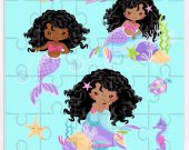 Mermaid Birthday Party, Mermaid Puzzles, Mermaid Party Favors, Mermaid Party Decor, Mermaid Digital, Puzzles