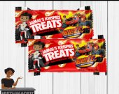 Blaze and the Monster Machines Birthday Party, Rice Krispie Treat, Party Favor, Party Decor, Kids, Custom, Digital or Printed and Shipped