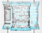 Winter Wonderland , Winter Wonderland Chip Bag, Winter Wonderland Birthday Party, Snowflake Chip Bag, Winter Chip Bag, Snowflake, Digital