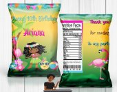 Luau Chip Bag, Luau Party, Luau Birthday, Hawaiian Luau, Luau Treat Bag, Digital