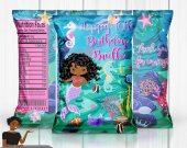 Mermaid Birthday Party, Mermaid Treat Bag, Mermaid Chip Bag, Mermaid Party Favors, Mermaid Party Decor, Mermaid Digital
