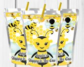 Bee Birthday Party, BumbleBee Treat, Bee Party Favors, Capri Sun, Bee Favors, Bee Party Ideas, Juice Labels, Digital
