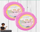 Unicorn Birthday Party, Unicorn Bubble Tape,Magical Birthday Party, Unicorn Theme, Custom Label Digital or Printed and Shipped