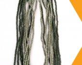 Green designer handmade wooden beads