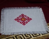 Cloth with embroidery - Lada - Rozhanitsa - Ethno Slavic Pagan symbol