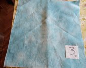 THIS IS A PIECE OF HAND DYED 14 count Aida Teal and White a fat quarter 50x50cm No3