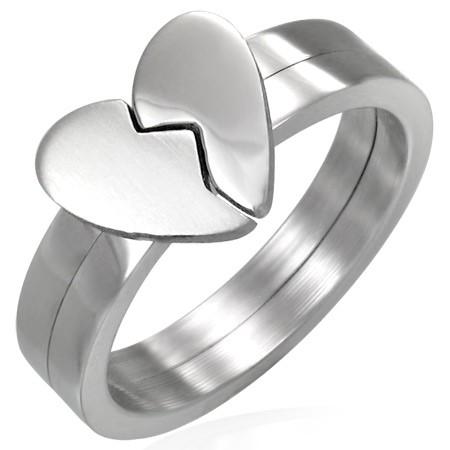 Broken Heart Stainless Steel Ring