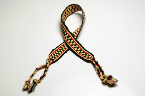 Black, Yellow, Red Friendship Bracelet