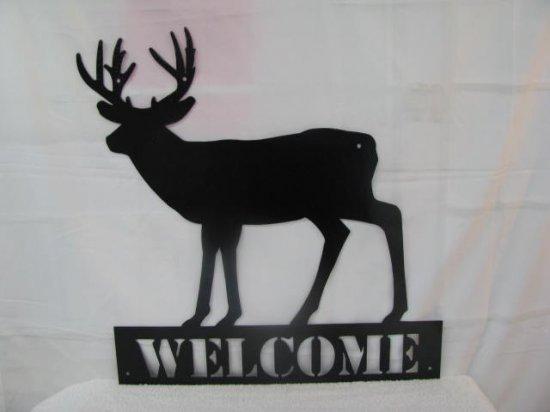 Deer 002 Welcome Wildlife Metal Wall Art Silhouette