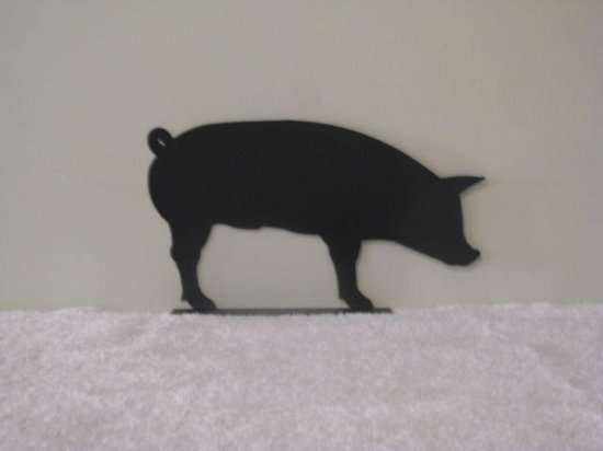 Pig Mail Box Topper Metal Art Silhouette