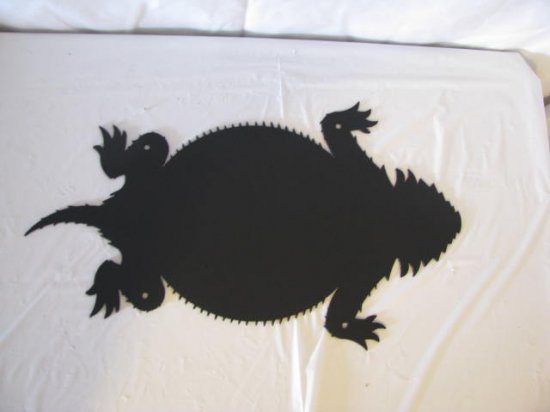 Horn Toad Large Metal Wall Art Silhouette Western