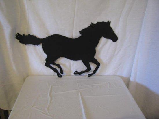 Horse 001 AF Western Metal Wall Yard Art Black Silhouette
