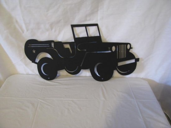 Army Jeep Metal Wall Art Silhouette