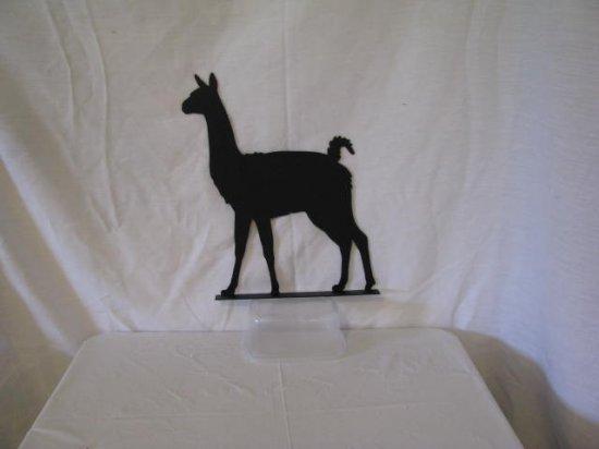 Llama 001 Mailbox Topper Metal Farm Art Silhouette