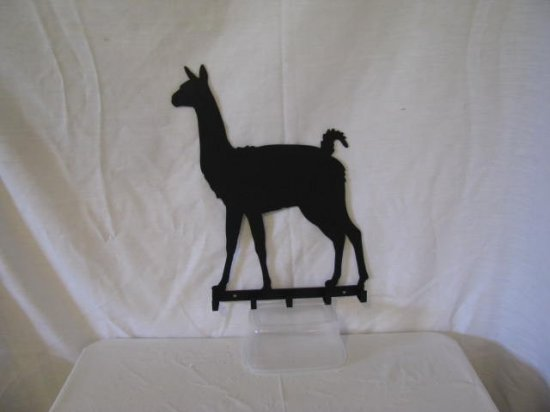 Llama 001 Key Rack Metal Farm Wall Art Silhouette
