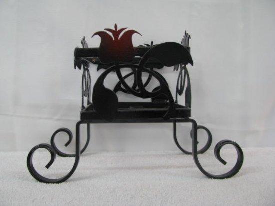 Flower Pot Holder Metal Silhouette Art