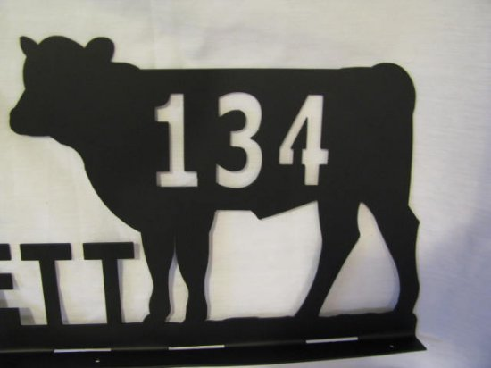 Custom Mailbox Topper with Name and Address Metal Yard Art Silhouette