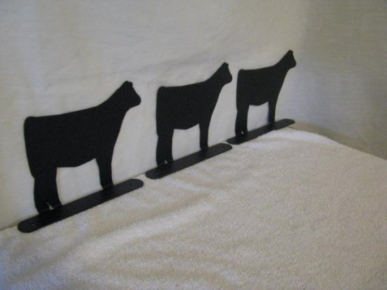 Beef Calf Mailbox Topper Large Farm livestock Art Silhouette set of 3