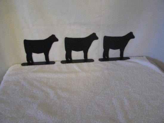Beef Calf Mailbox Topper Medium Metal Farm livestock Art Silhouette set of 3