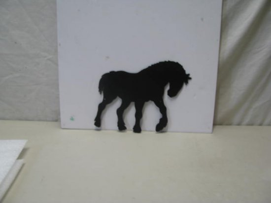 Clydesdale 009 Western Metal Art Silhouette