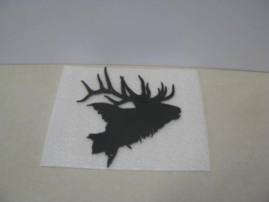 Elk Head 002 Wildlife Metal Art Silhouette