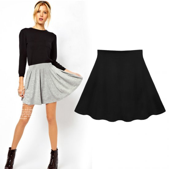 2014 new spring/autumn fashion brand women short skirt mini skirt pleated A line skirt girl school skirt