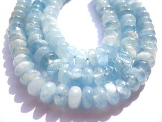 4x6 5x8 6x10mm 16inch gergous  natural aquamarine-beryl gemstone rondelle abacus jewelry beads