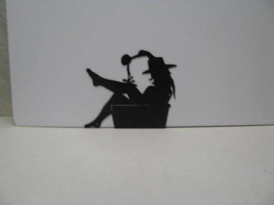 Cowgirl 001A Western Metal Wall Yard Art Silhouette