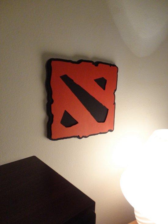 Handmade Dota 2 wall hanging