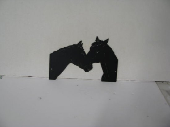 Horse Pair 180 Metal Wildlife Wall Yard Art Silhouette