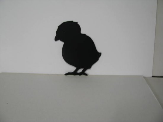 Baby Chick 003 Metal Wall Yard Art Silhouette